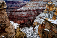 Grand Canyon after a snow fall