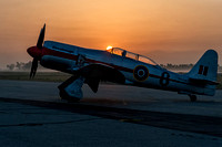 Hawker Sea Fury at Sunrise