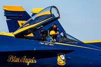 Blue Angel Pilot with Crew Chief