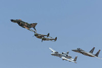 F4 with a P-38 an A-10 and F-15