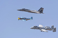F-15; A-10 and P-51