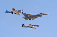 2 P51's with an F-16