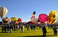 Sunrise at the Balloon Fiesta, Albuquerque