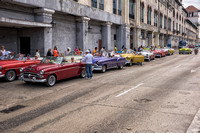 Convertable taxi stand, Havana