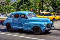 Old Chev Havana Taxi used by locals