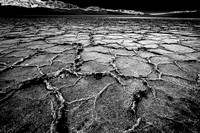 Salt Flats of Badwater Basin, Death Valley in B & W